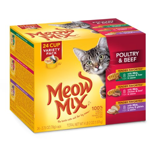 Meow Mix Tender Favorites Poultry And Beef Variety Pack Wet