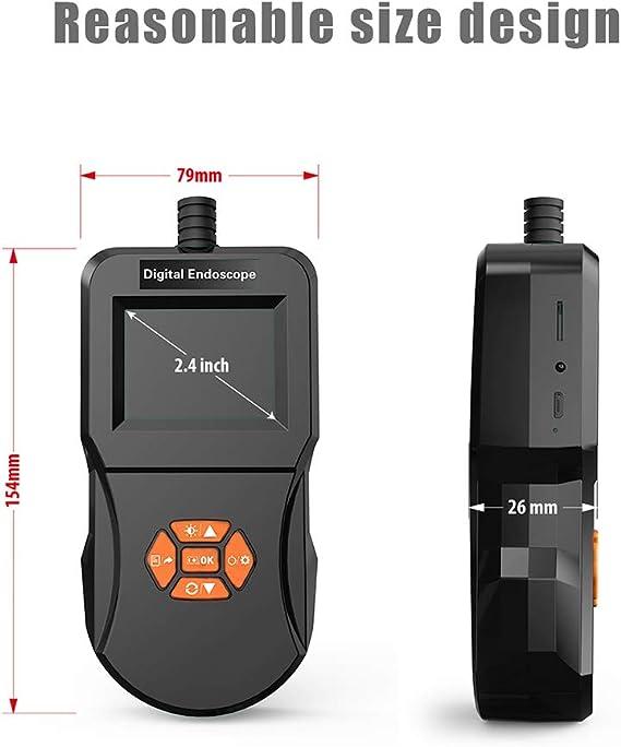 Winbang Inspektionskamera Industrielles Endoskop Digitales Endoskop Mit 5 5 Mm Wasserdichter Mikroschlangenkamera 6 Justierbarem Led Licht Endoskop 3m Auto