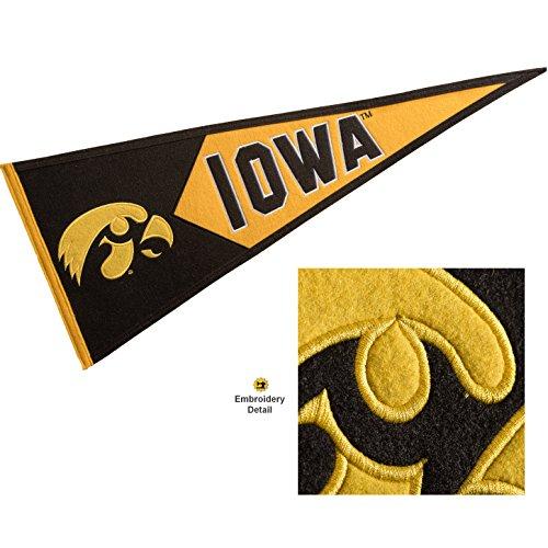 Winning Streak Iowa Hawkeyes Wool Embroidered and Sewn Pennant - Iowa Hawkeyes Team Wall Border
