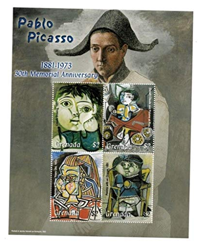 (Pablo Picasso - Famous Paintings - Picasso's Children - Beautiful Collectors Stamps - Grenada)