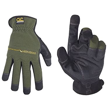 Custom Leathercraft 123X Workright Open Cuff Flex Grip Work Gloves, Extra Large