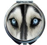 Rikki Knight Wolf Close Up Design Round Compact Mirror