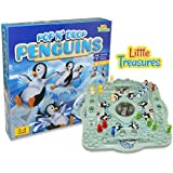 Little Treasures Penguin Popin and Droping 3D Board Game, Compare to The Trouble Game, Fun ICY Family Game