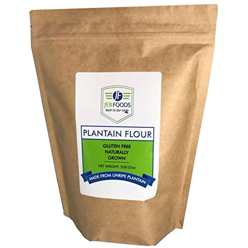 JEB FOODS Plantain flour - 2 LB 100% Pure Africa Green Plantain Flour Low Oxalate Diet, Paleo Diet, Gluten Free Baking