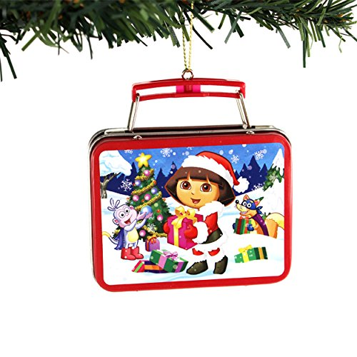 Nickelodeon Dora the Explorer Kurt Adler Mini Tin Ornament Gift Boxed (Dora Boots & Swiper) (Ornaments Explorer The Dora)