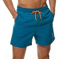 Qckarobe Traje de Baño Hombre Pantalones Cortos Bañador con Malla Forro Secado Rápido para Natación Surf Vacaciones en…