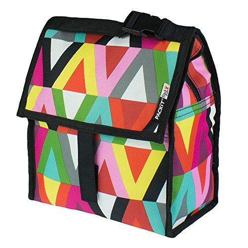 PackIt Freezable Lunch Bag with Zip Closure, Viva