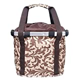 Kalinu Bike Basket Bicycle Detachable Handlebar Front Carrier Pet Bag Bike Frame Bag (Coffee)