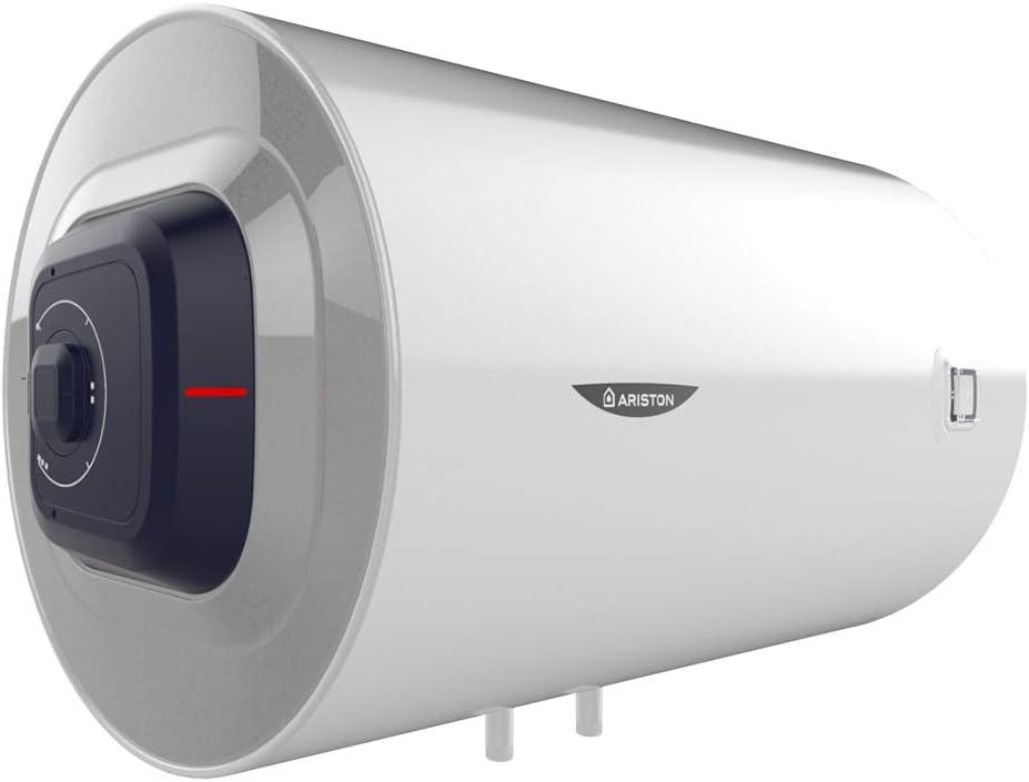 Ariston Pro1 R Termo Electrico 80 litros | Calentador de Agua Horizontal, Resistencia Blindada – Regulacion Exterior y Mecanica de la Temperatura