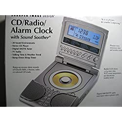 Sharper Image SI686 CD Radio Alarm Clock with 20 Sound Soother