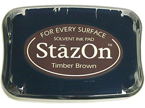 StazOn Solvent Inkpad-Timber Brown