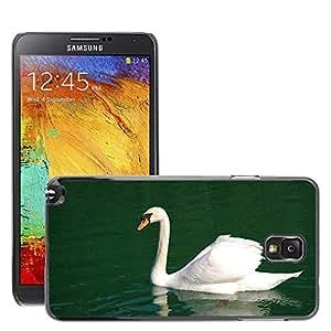 Cas Coq Case Cover // M00146741 Cisne mudo Natación White Bird // Samsung Galaxy Note 3 III N9000 N9002 N9005