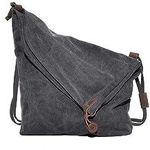 Topteck Oversized Retro Canvas Hobo Crossbody Satchel Bag Ladies Shoulder Messenger Bags Vintage Large Big Handbag