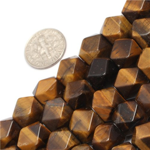 - GEM-inside Tiger Eye Gemstone Loose Beads Natural Genuine 8-9x11-12mm Faceted Cuboid Energy Stone Power Beads For Jewelry Making 15