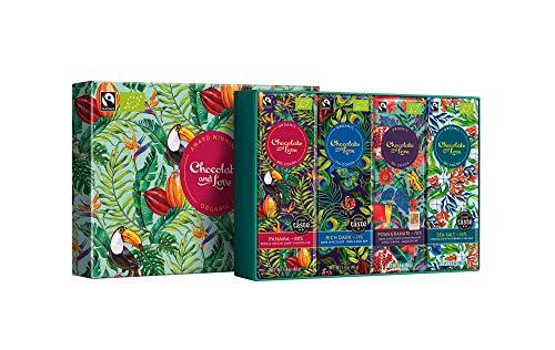 Chocolate and Love Panama Light Gift Box: Green 4 x - Equal Exchange 80