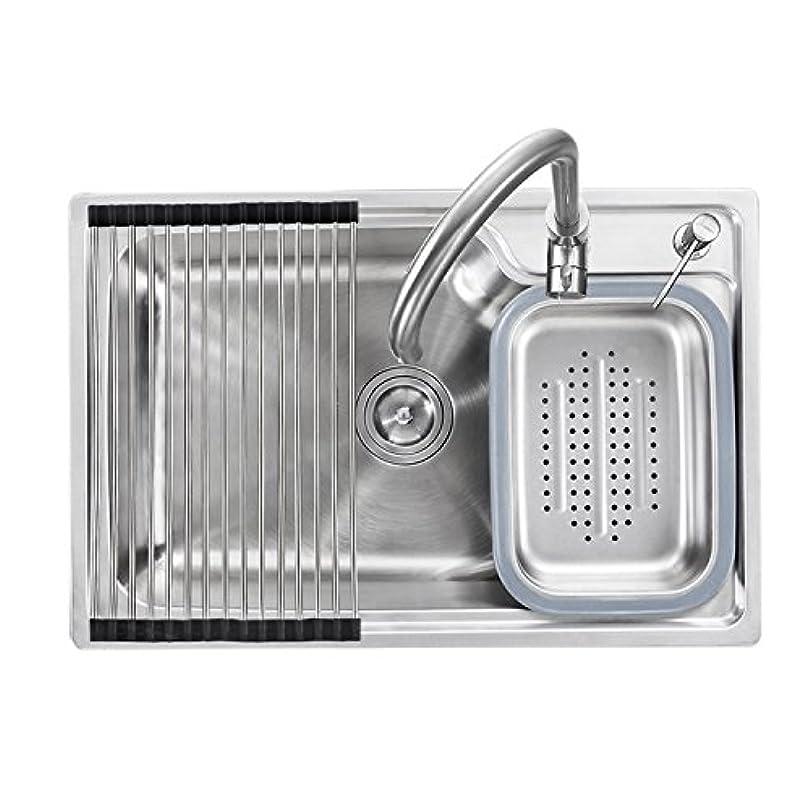 豊富なミット修理工キッチン用流し台(蛇口なし) キッチンシンク 台所の流し台 2槽 #304ステンレス製流し台