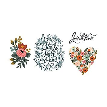 edb9d7349 Tattly Temporary Tattoos Floral Set-Designed Roses by Tattly: Amazon.co.uk:  Toys & Games