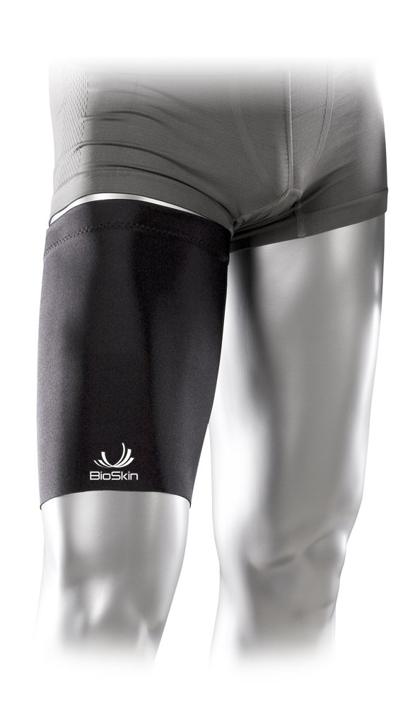 Medical Grade Compression Sleeve to Relieve Pain from Quad and Hamstring Strains - Thigh Skin by BioSkin (M)