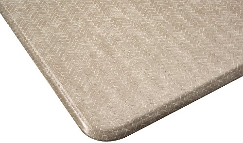Imprint Cumulus9 Kitchen Mat Chevron Series Island Area Runner 26 in. x 72 in. x 5/8 in. Goose