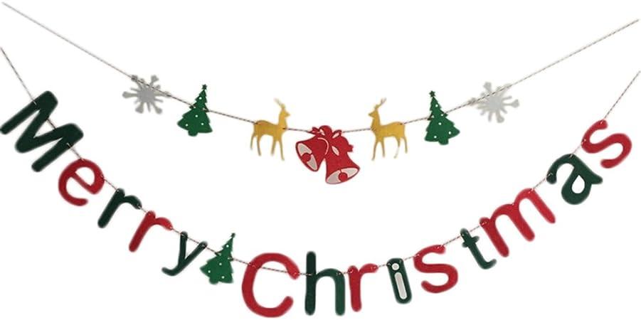 Da.Wa Bandera de la Navidad DIY Navidad Colgando Decoración con Letras de Feliz Navidad: Amazon.es: Hogar
