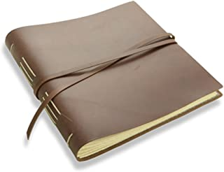 """product image for Rustic Leather Album - The """"Big Idea"""" - 160 Blank Photo Pages - Dark Brown"""
