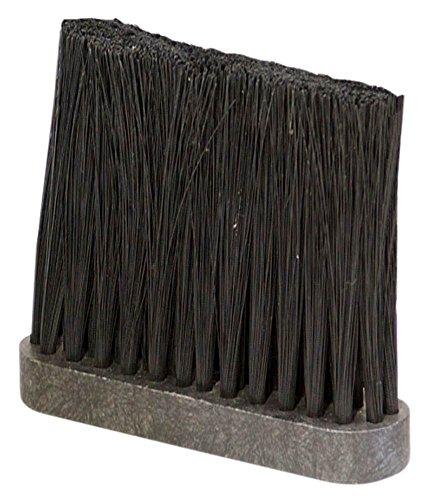 5 in Nylon Fireplace Brush Head in Black & Grey