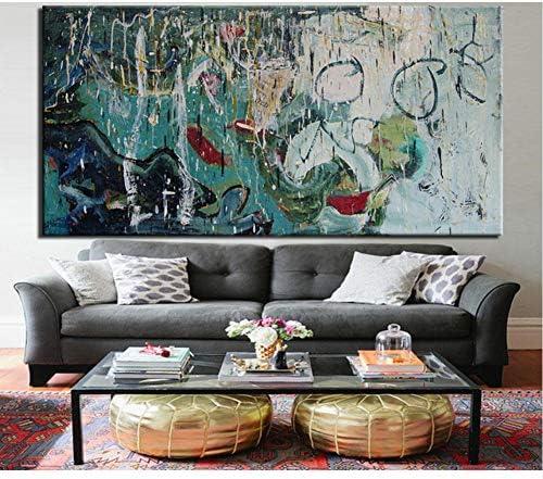 SDFSD Arte Pesado Abstracto Graffiti Pintura al óleo Arte de la Pared Pintura Impresión en Lienzo Cuadro Abstracto para la Sala de Estar Decoración del hogar Sin Marco 50 * 100 cm