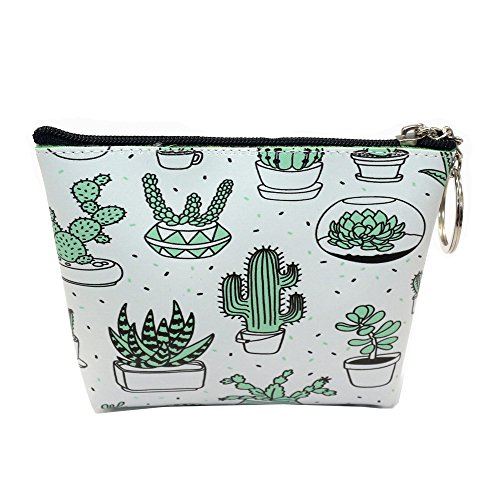 Clearance Sales!! ZOMUSAR Women Girls Printing Flower Snacks Coin Purse Change Cash Bag Zipper Small Purse Wallets (B)