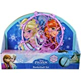 Disney Frozen Elsa Anna Olaf 13.5 X 10' Basketball Set 'Ball, Hoop, Net & Door Hanger'