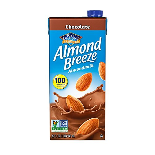 Almond Breeze Dairy Free Almondmilk, Chocolate, 32-Ounce Boxes (Pack of 12) (Box Milk Chocolate Almond)