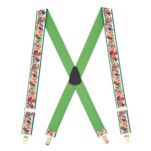 SuspenderStore Men's Christmas Presents Suspenders - 1.5 Inch Wide Clip ()