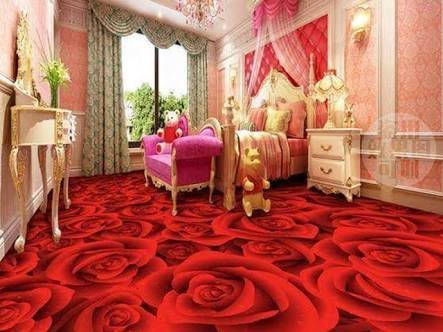 Buy Unicron Constrotech 3d Flooring Red Rose Wallpaper Bed Room