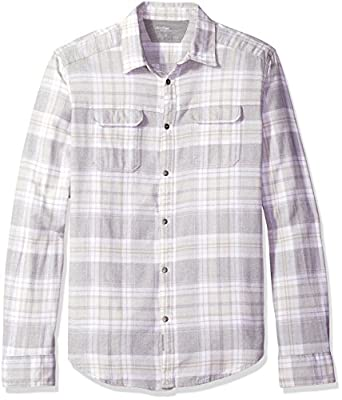 Calvin Klein Jeans Men's Short Sleeve Jaspe Check Button Down Shirt
