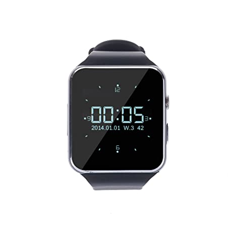 Levipower®X6 Smartwatch Pulsera NFC Con Pantalla Cámara Táctil para IOS Android Soporta SMI/TF (Negro)