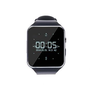 Levipower®X6 Smartwatch Pulsera NFC Con Pantalla Cámara Táctil para IOS Android Soporta SMI/TF (Negro): Amazon.es: Electrónica