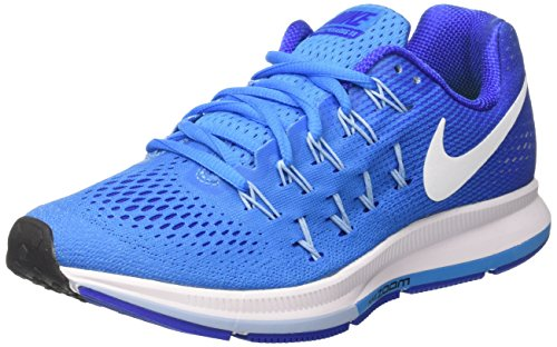 Nike Women's Air Zoom Pegasus 33 Blue Glow/White/Rcr Blue/Blcp Running Shoe 6 Women US by NIKE