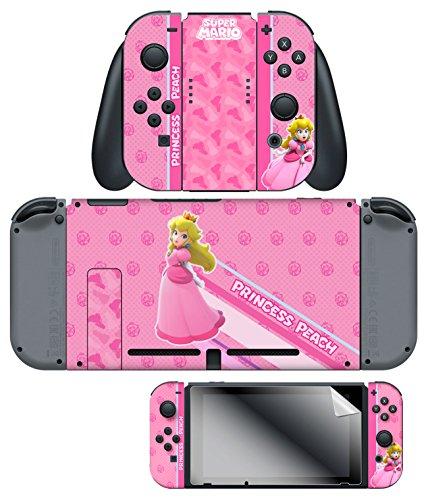 Controller Gear Nintendo Switch Skin & Creen Protector Set, Officially Licensed By Nintendo - Super Mario
