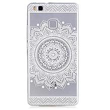 Samsung Galaxy S5 Case, KSHOP Premium Accessory Ultra Thin Transparent Clear Soft Gel TPU Silicone Case Cover Bumper Shellfor Samsung Galaxy S5-White Mandala
