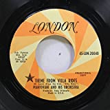 MANTOVANI AND HIS ORCHESTRA 45 RPM THEME FROM VILLA RIDES / WILLOW TREE