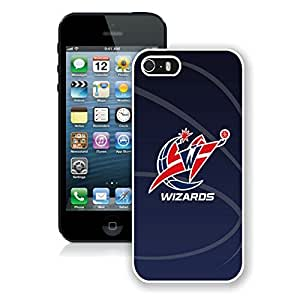 New Custom Design Cover Case For iPhone 5s Generation Washington Wizards 11 White Phone Case
