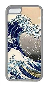 iPhone 5c case, Cute Sea Wave iPhone 5c Cover, iPhone 5c Cases, Soft Clear iPhone 5c Covers