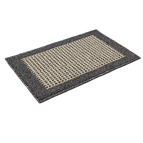 28X18 Inch Anti Fatigue Washable Kitchen Rug Mats are Made of Polypropylene Square Rug Cushion Which is Anti Slippery and Stain Resistance, Black Gray