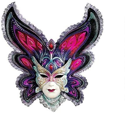 Design Toscano Maidens of Mardi Peacock Princess Gras Wall Mask Sculpture