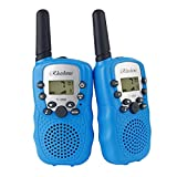 RHESHINE Kids Walkie Talkies, Walkie Talkie for Kids 2 Miles(3KM) walkie talkies long range 22 Channel 0.5W FRS/GMRS 2 Way Radios (8 batteries and charger are not included, Blue)
