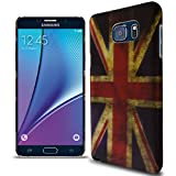 Note 5 Case, CoverON® Slim Non-Slip Art Design Cover [Slender Fit Series] Phone Case For Samsung Galaxy Note 5 (Union Jack Flag)
