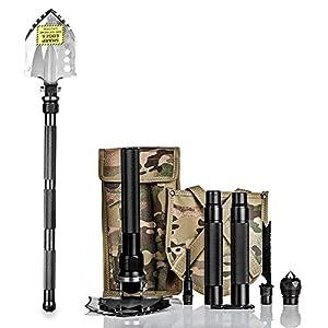 BAALAND Folding Shovel, Multi-function Compact Ultra-durable Shovel for Survival | Camping | Adventure | Emergency