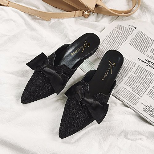 and spring and tips WHLShoes casual sharp low Women's semi ladies' Lazy entertainment summer Sandals fashions Golden and slippers Baotou rn60q67Yw