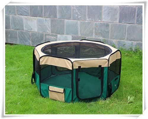 Pingkay 60 Portable Soft Pet Playpen Soft Side Play Pen Dog Kennel Cat Fence with Panel 23 Lx39 W