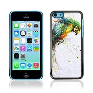 YOYOSHOP [Color Splatter Color Parrot] Apple iPhone 5C Case