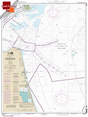 Paradise Cay Publications NOAA Chart 12208: Approaches to Chesapeake Bay 21.00 x 28.07 (SMALL FORMAT WATERPROOF)